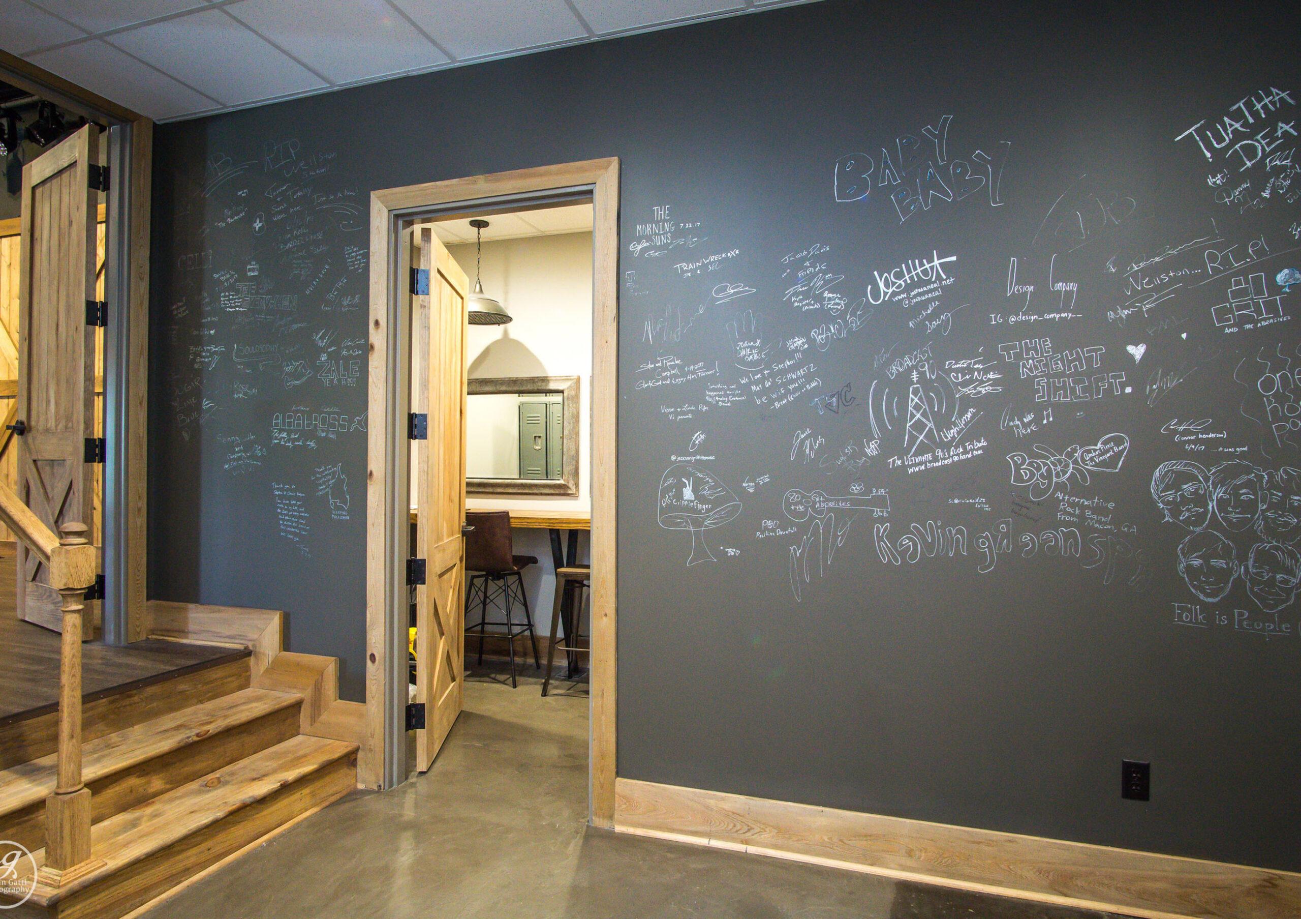 Chalk board wall by Valerie Garrett Interior Design