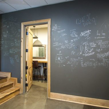 Chalk board wall by Valerie Garrett Interior Design